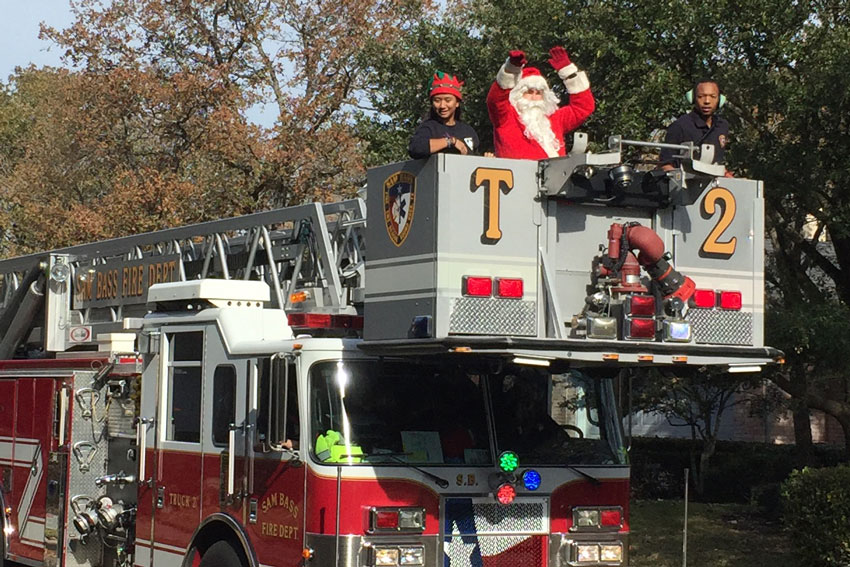 Sam Bass Fire Department Annual Santa Run